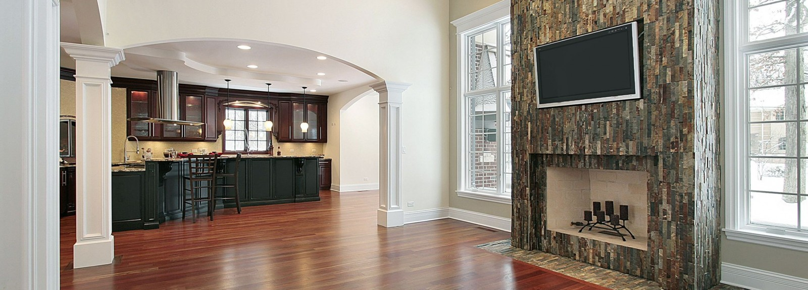 Imagine the natural looking hardwood floor in your family room…